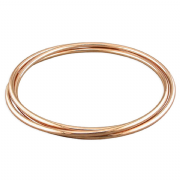 Sterling silver Round Profile Rose Gold Plated Russian Slave Bangle 12.25g